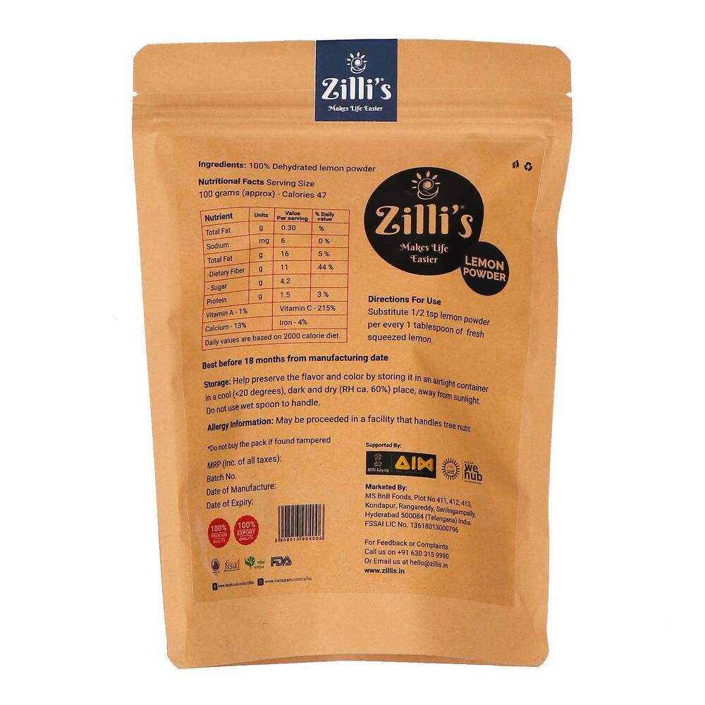Zilli's - Lemon Powder - 8.82oz (250g)